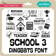 School 3 Dingbats Font