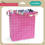 2 Bags on a 12x12 Scalloped Top