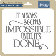 It Seems Impossible VInyl