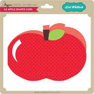 A2 Apple Shaped Card