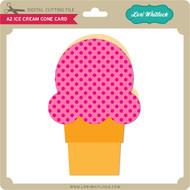 A2 Ice Cream Cone Card