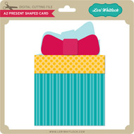 A2 Present Shaped Card