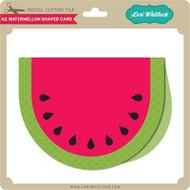 A2 Watermelon Shaped Card