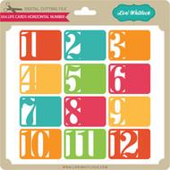 3x4 Life Cards Horizontal Number