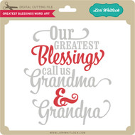 Greatest Blessings Word Art