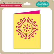 A2 Flower Cut Out Card 1