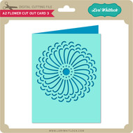 A2 Flower Cut Out Card 3