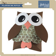 Pillow Box Owl Ruffled