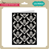 A2 Damask Pattern Card