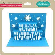 Happy Holidays Pop Up Card