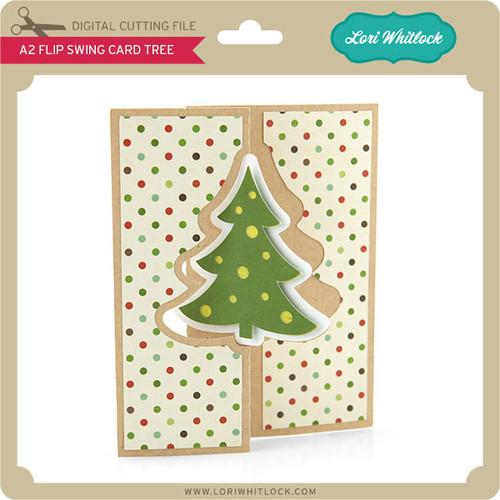 A2 Flip Swing Card Christmas Tree - Lori Whitlock's SVG Shop