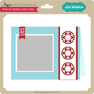 Row of Snowflakes Card