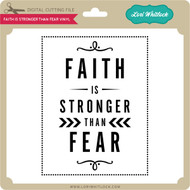 Faith is Stronger than Fear Vinyl