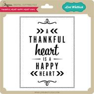 Thankful Heart Happy Heart Vinyl