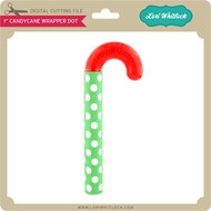 "1"" CandyCane Wrapper Dot"