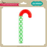 "1"" CandyCane Wrapper Dot"