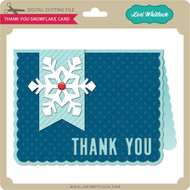 Thank You Snowflake Card