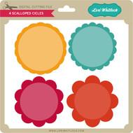 4 Scalloped Circles