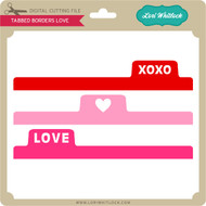 Tabbed Borders Love