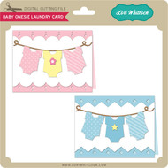 Baby Onesie Laundry Card