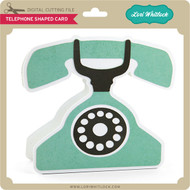 Telephone Shaped Card