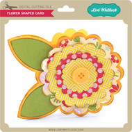 Flower Shaped Card