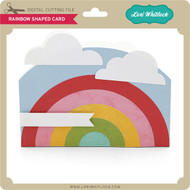 Rainbow Shaped Card