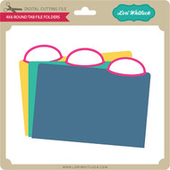 4x6 Rounded Tab File Folders