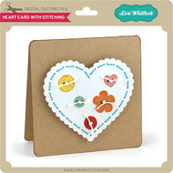 Heart Card with Stitching