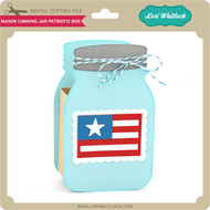Mason Canning Jar Patriotic Box