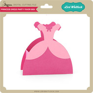 Princess Dress Party Favor Box
