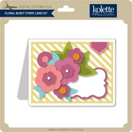 Floral Burst Stripe Card Kit
