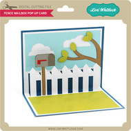 Fence Mailbox Pop Up Card