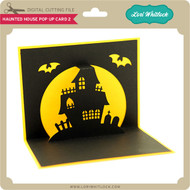 Haunted House Pop Up Card2