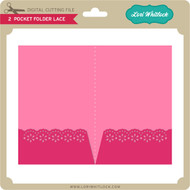 2 Pocket Folder Lace