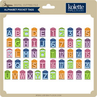 Alphabet Pocket Tags