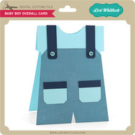 Baby Boy Overall Card