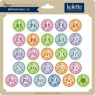Birthday Seals 1-25