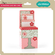 A2 Wedding Cake Box Card