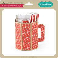 3D Hot Cocoa Coffee Mug