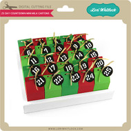 25 Day Countdown Mini Milk Cartons