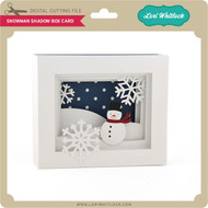 5x7 Snowman Shadow Box Card
