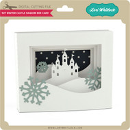5x7 Winter Castle Shadow Box Card