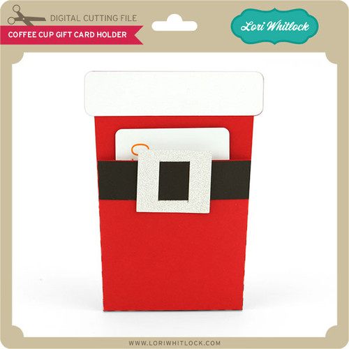 Coffee cup pocket gift card holder lori whitlocks svg shop coffee cup pocket gift card holder negle