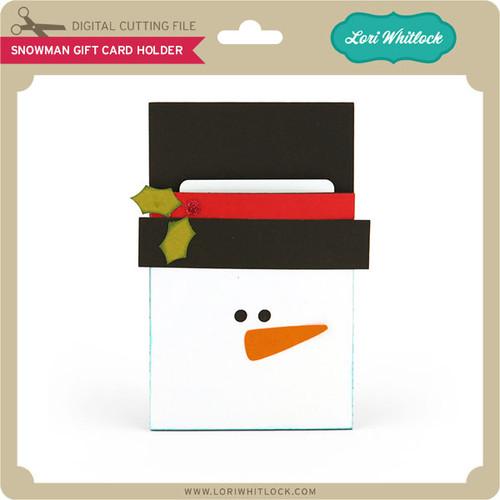 Snowman pocket gift card holder lori whitlocks svg shop snowman pocket gift card holder negle Gallery