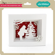 5x7 Santa Tree Shadow Box Card