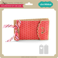 Scalloped Pocket Gift Card Album