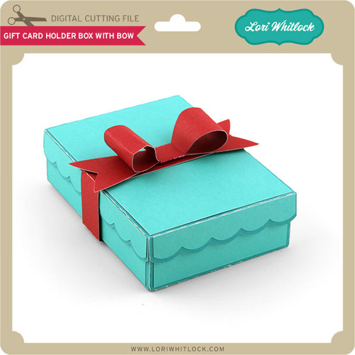 Gift Card Holder Box With Bow - Lori Whitlock's SVG Shop