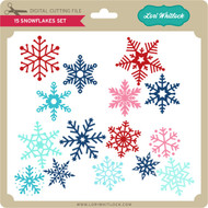 3 Snowflakes Set