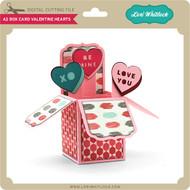A2 Box Card Valentine Hearts